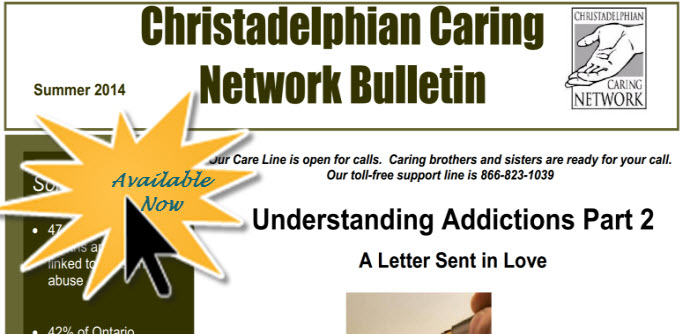 Christadelphian Caring Network of Canada Fall 2014 Newsletter